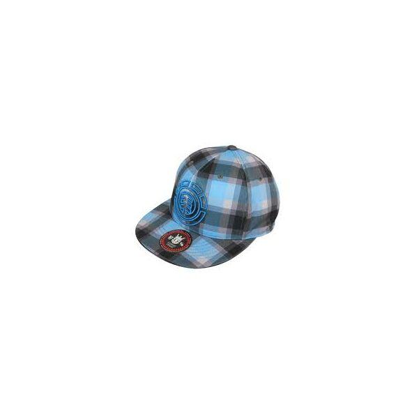 szürke világos kék kockás baseball sapka, hímzett Element logóval