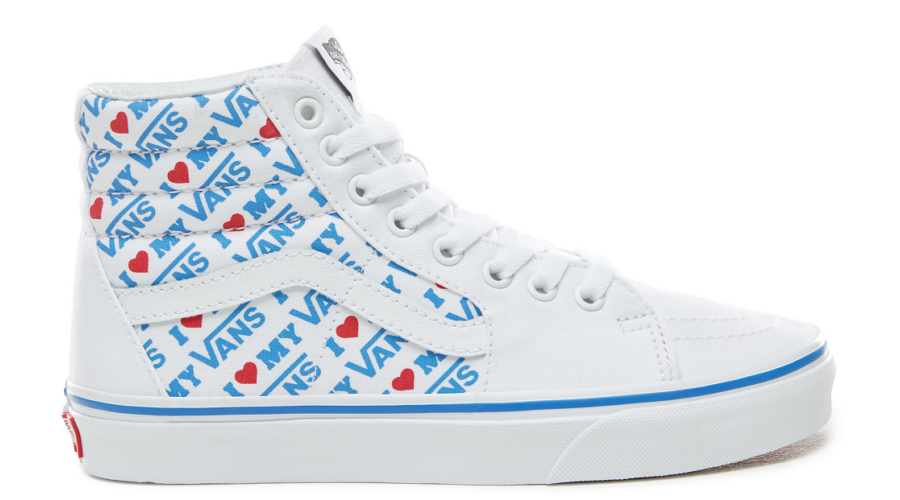 VANS SK8-HI (I Heart Vans)   True white   True white 7a1d32b1c