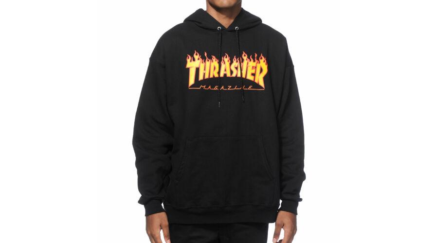 THRASHER Flame Po · fekete kapucnis thrasher pulóver ... 3e8dd91572