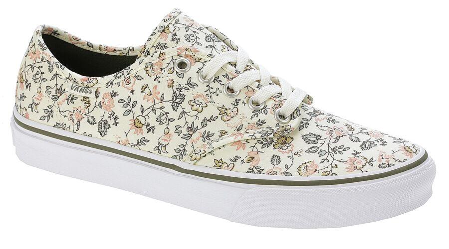 törtfehér apró virágmintás női vans vászon tornacipő d0652c722a